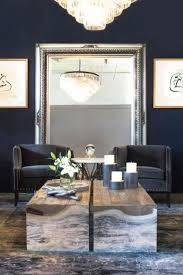 area mirror tables for living room. blue walls look sassy with this large silver framed mirror area tables for living room