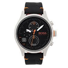 hugo boss 1550020 amsterdam orange and black leather watch hugo boss orange 1550020 amsterdam orange black leather men s watch