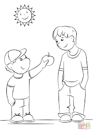 Showing Kindness Coloring Page Free Printable Pages Best Of