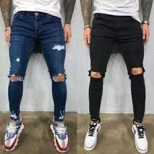 vaquero jeans rasgados