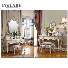 White Wood Mirror Almirah Simple Dressing Table Designs With Drawer ...