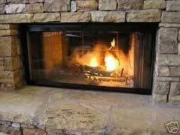 image of fireplace glass doors picture
