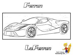 Ferrari Laferrari Coloring Pages Sketch Templates L