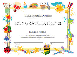 certificates of completion for kids kindergarten diploma certificate office templates