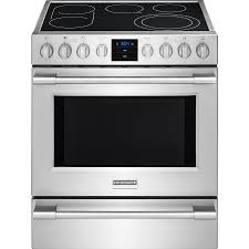 professional 30 in 5 1 cubic ft 5 element freestanding smooth surface stainless steel convection frigidaire