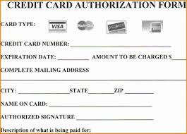 credit card authorization form templates awesome standard pdf hilton garden inn 1400