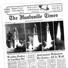 「NASA launches Columbia , the first space shuttle, in 1981 newspapers」の画像検索結果