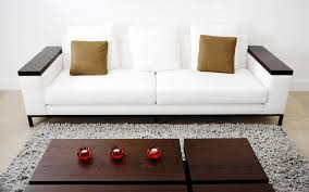 White Leather Chairs For Living Room Contemporary Sofa In White Leather With Reclining Headrest High