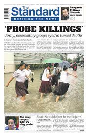The Standard - 2015 September 11 - Friday by Manila Standard ...
