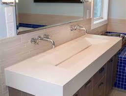 polished white concrete countertop