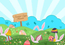 Easter Egg Hunt Background Download Free Vectors Clipart