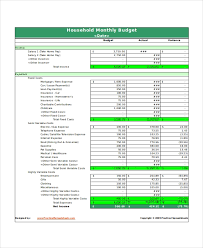 Monthly Home Budget Template 31 Excel Monthly Budget Templates Word Excel Pages