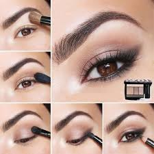 brown eyes how to do smokey simple eye make up for s cat eyes tutorial