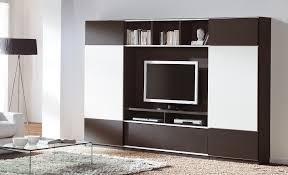... Awesome Wall Units With Doors Storage Cabinets With Doors And Shelves  Brown And ...
