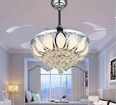 luxury modern crystal chandelier ceiling fan lamp folding with regard to light plans 3