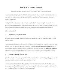 Format Of Business Proposal Sample Autosklo Pro