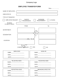 Form For Employee Employee Transfer Form