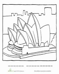 You can print them as many as you like. Sydney Opera House Coloring Page Worksheet Education Com