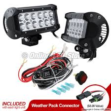 led light bar kits emergency vehicle light kit led light packages 2pc lamphus cruizer crlb12 6 5 36w off road led light bar wiring harness kit