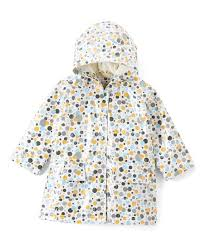 Pluie Pluie Size Chart Pluie Pluie Green Yellow Dot Fleece Lined Raincoat