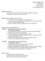 chronological resume example administrative assistant resume examples canada