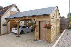 double carport with ½ bay storage