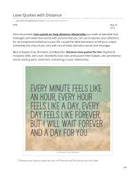 Love Quotes With Distance