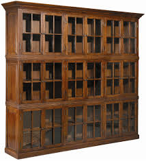 furniture large brown wooden bookshelves with glass doors and small knobs fascinating bookshelves with