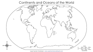 Blank World Map To Fill In Continents And Oceans Archives 7bit Co