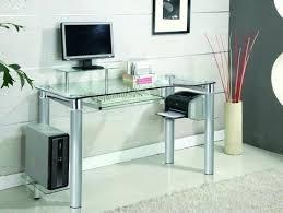 clear office desk. Clear Office Desk Chrome Glass Modern Executive Home E