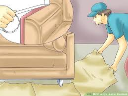 how to dye leather couch image titled dye leather furniture step 4 dye white leather couch