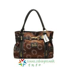 In Coffee Coach Monogram Medium Totes