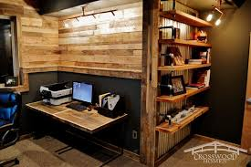 rustic office. Rustic Home Office With Built-in Shelf And Paneled Wall.Source: Zillow Digs U