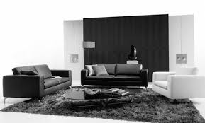 Modern Black And White Living Room Living Room Great Small Modern Design Idea With Black Wall White