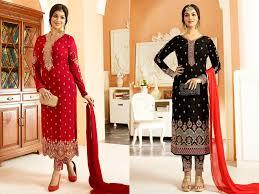 Ladies Shalwar Kameez Design 2018 Latest Straight Cut Salwar Kameez Designs 2018 2019