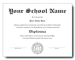 Print Fake High School Diploma Free Basic Best Doctors Note Images