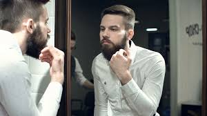 looking in mirror. Wonderful Mirror Close Up Of Man Looking In The Mirror And Checking Out His New Beard Style  Stock Video Footage  Videoblocks On Looking In Mirror
