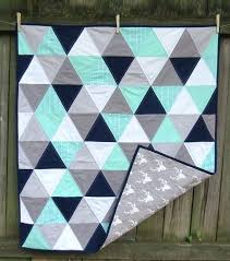 Easy To Make Baby Quilts – boltonphoenixtheatre.com & ... Mint Navy Grey And Mint Baby Quilt With Deer By Twin City Quilt Co Easy  To Easy Homemade ... Adamdwight.com