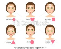 set of diffe woman face types vector ilration character shapes makeup beautiful female csp59675578