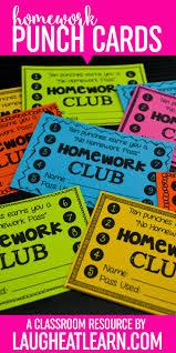 best homework incentives ideas homework board homework club punch cards