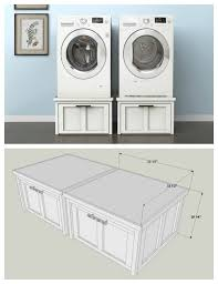 diy washer dryer pedestal with drawers.  Pedestal DIY Washer And Dryer Pedestals With Storage Drawers  Find The FREE PLANS  For This Project Many Others At Buildsomethingcom To Diy Pedestal With A