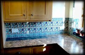 Blue Tiles For Kitchen Blue Backsplash Tile Delightful 20 Blue White Backsplash Wall