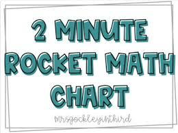 Rocket Math Chart 2 Minute Timed Rocket Math Chart