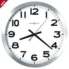 large office clocks. Large Office Wall Clock Miller 3 4 Round Brushed Aluminum Clocks Digital
