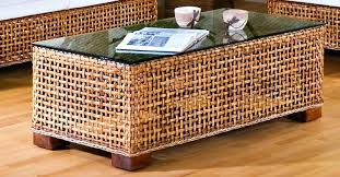round wicker coffee table with glass top large round wicker coffee table woven side rattan or
