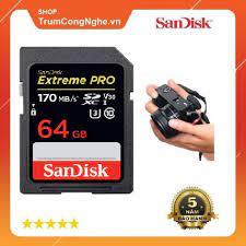 Thẻ nhớ Máy Ảnh SD Extreme Pro 64GB class10 U3 V30 170MB/s - Tốc độ cao giá  cạnh tranh