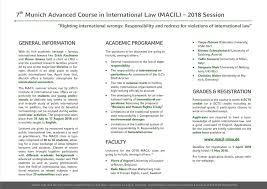 macil munich advanced course in international law home facebook image contain text