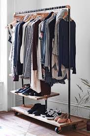 Free Standing Coat Rack With Shelf Keep Your Wardrobe In Check With Freestanding Clothing Racks 50