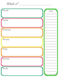 week schedule print out home management binder completed weekly calendar calendar