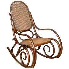 vintage thonet bentwood rocking chair for